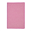 Outdoor Houndstooth Tweed - Magenta 4' square