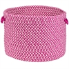 "Outdoor Houndstooth Tweed- Magenta 14""x10"" Utility Basket"