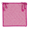 Outdoor Houndstooth Tweed - Magenta Chair Pad (set 4)