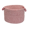 "Outdoor Houndstooth Tweed - Sangria 18""x12"" Utility Basket"
