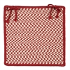 Colonial Mills Outdoor Houndstooth Tweed - Sangria Chair Pad (single)