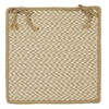 Outdoor Houndstooth Tweed - Cuban Sand Chair Pad (single)