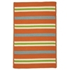 Colonial Mills Painter Stripe Rug - Tangerine 4'x6'