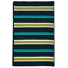 Colonial Mills Painter Stripe Rug - Navy Waves 4'x6'