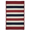 Colonial Mills Portico - Patriotic Stripe 4' square