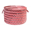 "Colonial Mills Rag-Time Cotton Blend Pink/Red 18""x12"" Utility Basket"