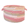 "Rag-Time Cotton Blend Pink Multi 14""x10"" Utility Basket"