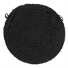 Spring Meadow - Black Chair Pad (set 4)