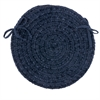 Spring Meadow - Navy Chair Pad (single)