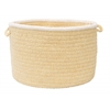 "Colonial Mills Silhouette - Pale Banana 18""x12"" Utility Basket"