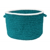 "Silhouette- Teal 14""x10"" Utility Basket"