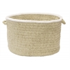 "Colonial Mills Silhouette- Celery 14""x10"" Utility Basket"