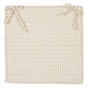 Ticking Stripe- Canvas Chair Pad (set 4)