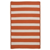 Colonial Mills Stripe It- Tangerine 4' square