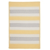 Stripe It- Yellow Shimmer 12' square