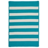 Colonial Mills Stripe It- Turquoise 5'x8'
