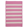 Stripe It- Bold Pink 7'x9'