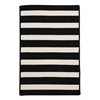 Colonial Mills Stripe It- Black White 10' square