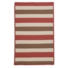 Colonial Mills Stripe It- Terracotta 6' square