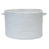 "Ticking Solids Gray 18""x12"" Basket"
