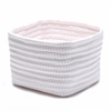 Ticking Shelf Square BSKT 11x11x8 Pink