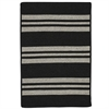 Colonial Mills Sunbrella  Southport Stripe- Black 5'x7'