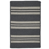Colonial Mills Sunbrella  Southport Stripe- Granite 2'x9'