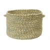"Colonial Mills West Bay- Celery Tweed 18""x12"" Utility Basket"