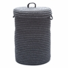 Wool Blend Slate Gray hamper w/ lid