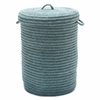 Colonial Mills Wool Blend Teal hamper w/ lid