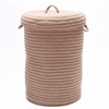 Wool Blend Evergold hamper w/ lid