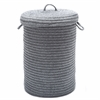Wool Blend Light Gray hamper w/ lid