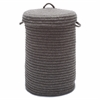 Colonial Mills Wool Blend Bark hamper w/ lid
