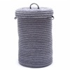 Colonial Mills Wool Blend Lavender hamper w/ lid