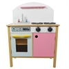Teamson Kids- Pink Play Kitchen with Dual Doors