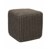 Anji Mountain Gray Jute Pouf Square