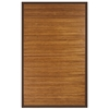 Anji Mountain 4' x 6' Contemporary Chocolate Bamboo Rug