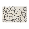 Anji Mountain 9' x 12' Buckingham Shag Ivory & Gray Rug