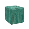 Emerald Saree Pouf Square