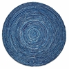 Anji Mountain 8' x 8' Round Ripple Blue Skies Rug