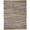 Anji Mountain 4' x 6' American Graffiti Denim & Jute Rug