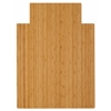 "Anji Mountain Bamboo Roll-Up Chairmat, 36"" x 48"", with lip"