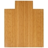 "Bamboo Deluxe Roll-Up Chairmat, 44"" x 52"", with lip"