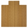 "Bamboo Roll-Up Chairmat, 55"" x 57"", with lip"