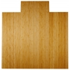 "Bamboo Deluxe Roll-Up Chairmat, 55"" x 57"", with lip"