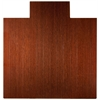 """Anji Mountain Bamboo Deluxe Roll-Up Chairmat, 55"""" x 57"""", with lip"""