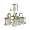 "Ore International 25""H Antique Brass Finish Chandelier"