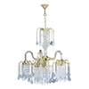 "25""H Polished Brass Finish Chandelier"