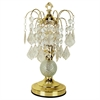 "Ore International 15""H Glass Touch-On Accent Table Lamp - Gold"