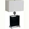 "Ore International 25"" Wooden Square Table Lamp - Black"